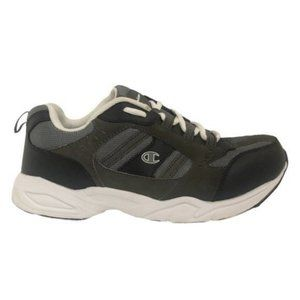 Champion (9.5) Gray Leather Men's Sneakers Shoes